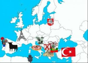 Partnerji eTwinning zemljevid