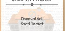 OŠ Sveti Tomaž je Simbioza šola za šolsko leto 2016/17