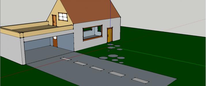 Tehniški dan 9.razred- Izdelava sanjske hiše